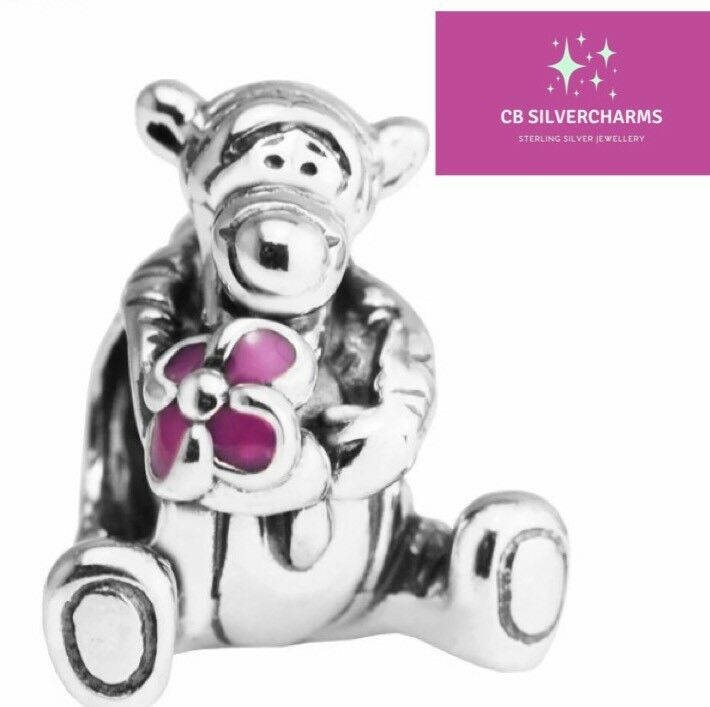 bc9976c73 Details about 💎🎀 STERLING SILVER 925 DISNEY TIGGER CHARM & GIFT POUCH-  WINNIE THE POOH