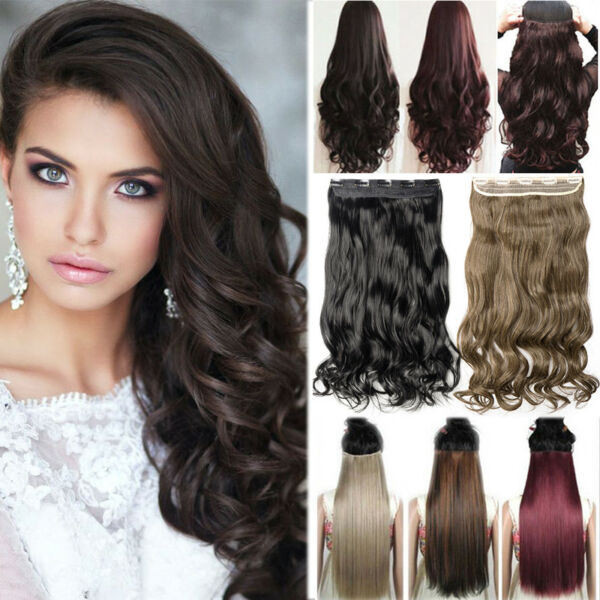 100% Real Thick Clip in Full Head like Human Hair Extensions Extentions Ombre AA