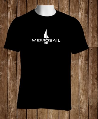 Black T-shirt Memosail Watch Logo Men's Black Tshirt S to 3XL