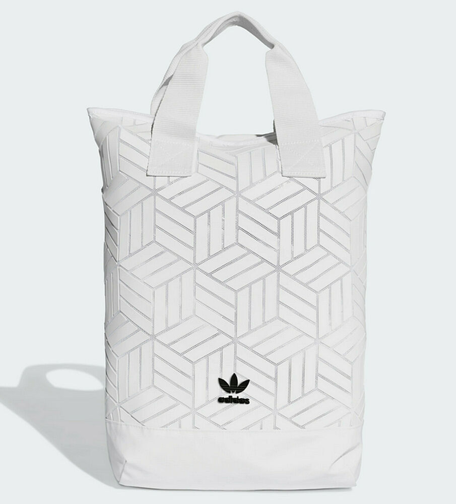 Adidas Originals 3D backpack womens bag Issey Miyake style NEW white last  one  26704090e1e1b