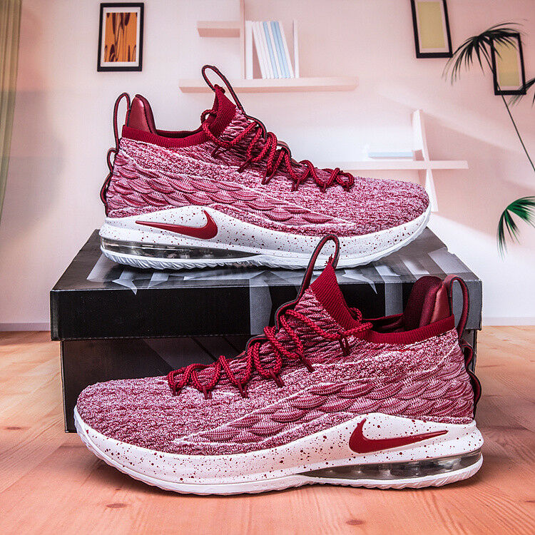 3963fa372d4 Details about Nike Lebron XV Low AO1755-200 Team Red Men s Basketball Shoes  SIZE 10