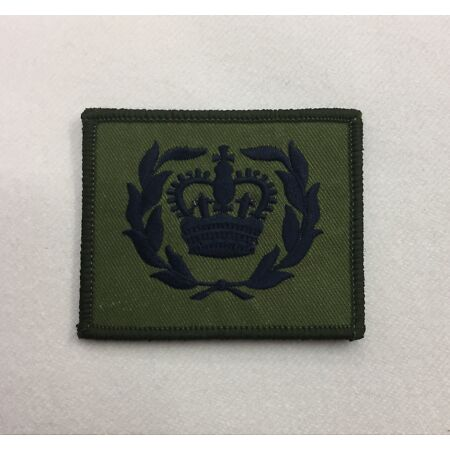img-WO2 RQMS Green Rank Badge, Crown Wreath, Army MTP Military Patch, Hook & Loop