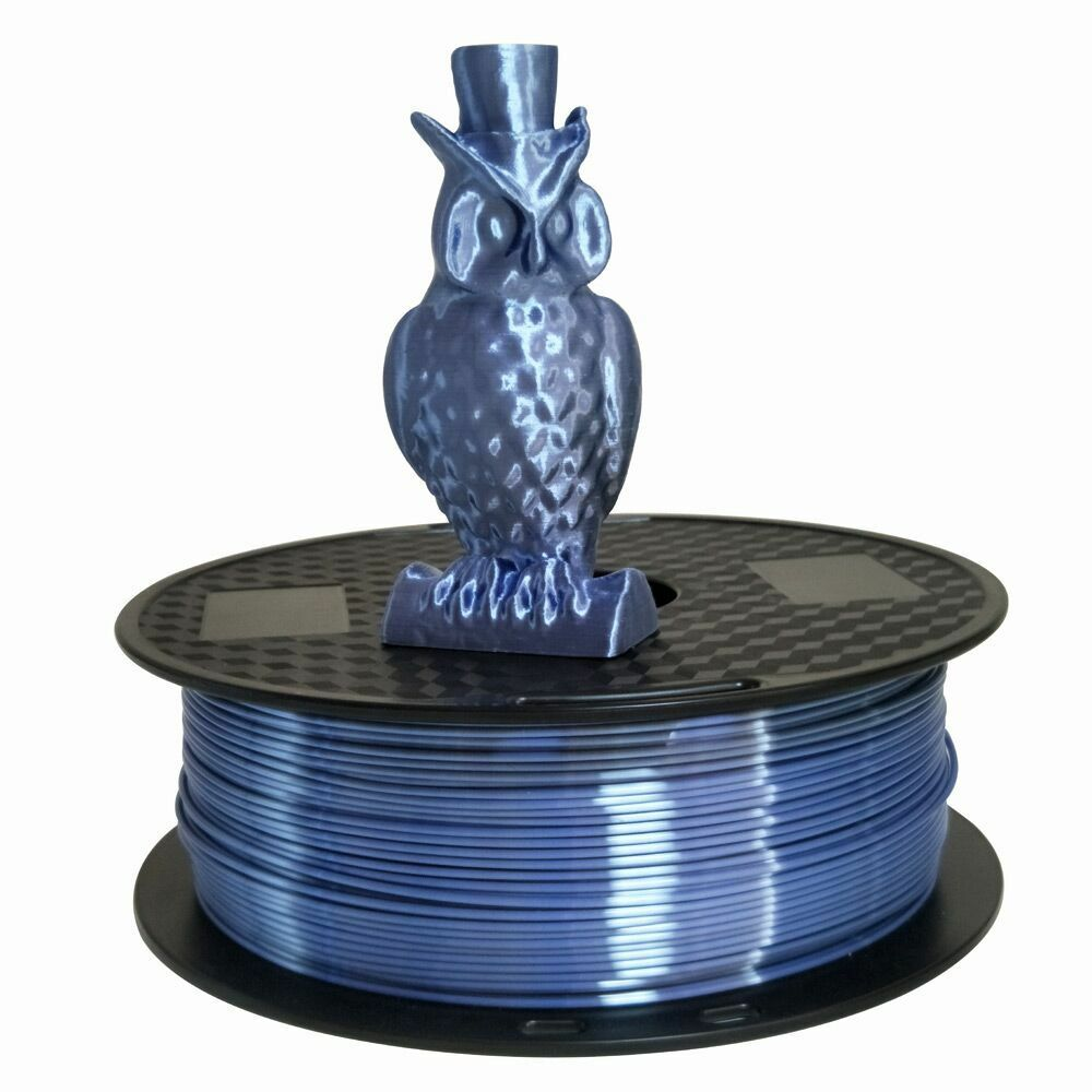 Silk Silver Pla 1.75mm 3d Printer Filament 1kg Printing Materials Silky 2.2lbs