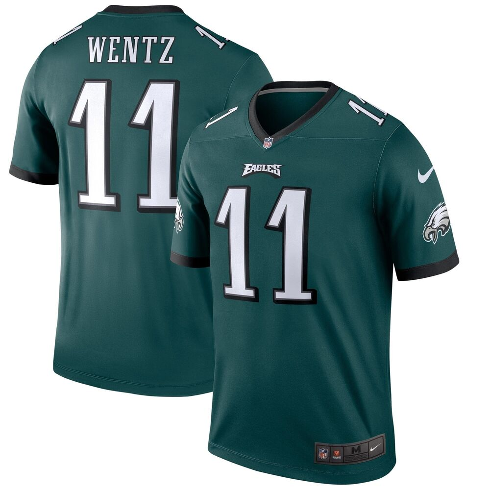 Men's Philadelphia Eagles Carson Wentz #11 NFL Nike Football Green