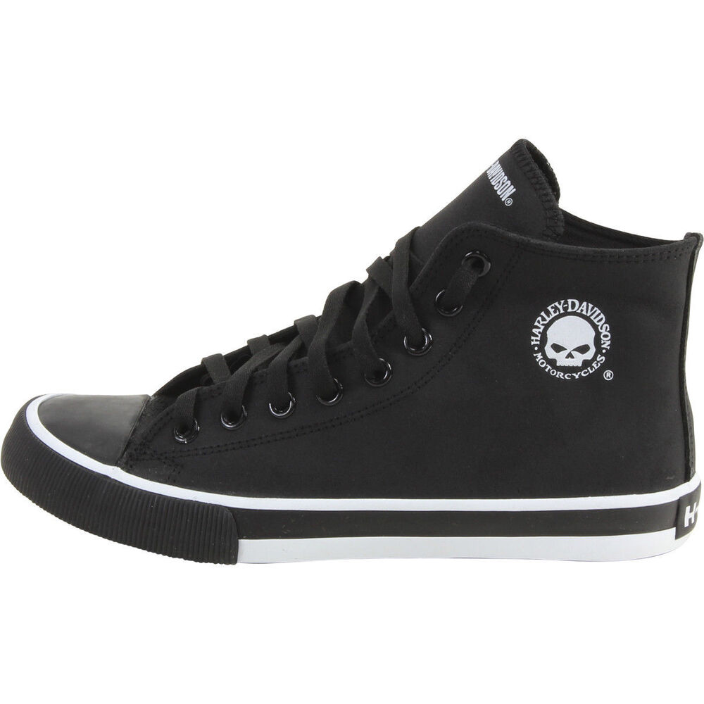 8e64008cf06e Details about Harley Davidson Men s Baxter Black White Skull High-Top  Sneakers Shoes Boot hi