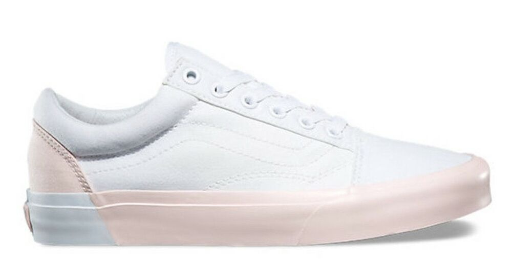 e10a5304ce Details about VANS OLD SKOOL (BLOCKED) TRUE WHITE PEARL PINK SHOES SZ 10  WOMENS   8.5 MENS NIB