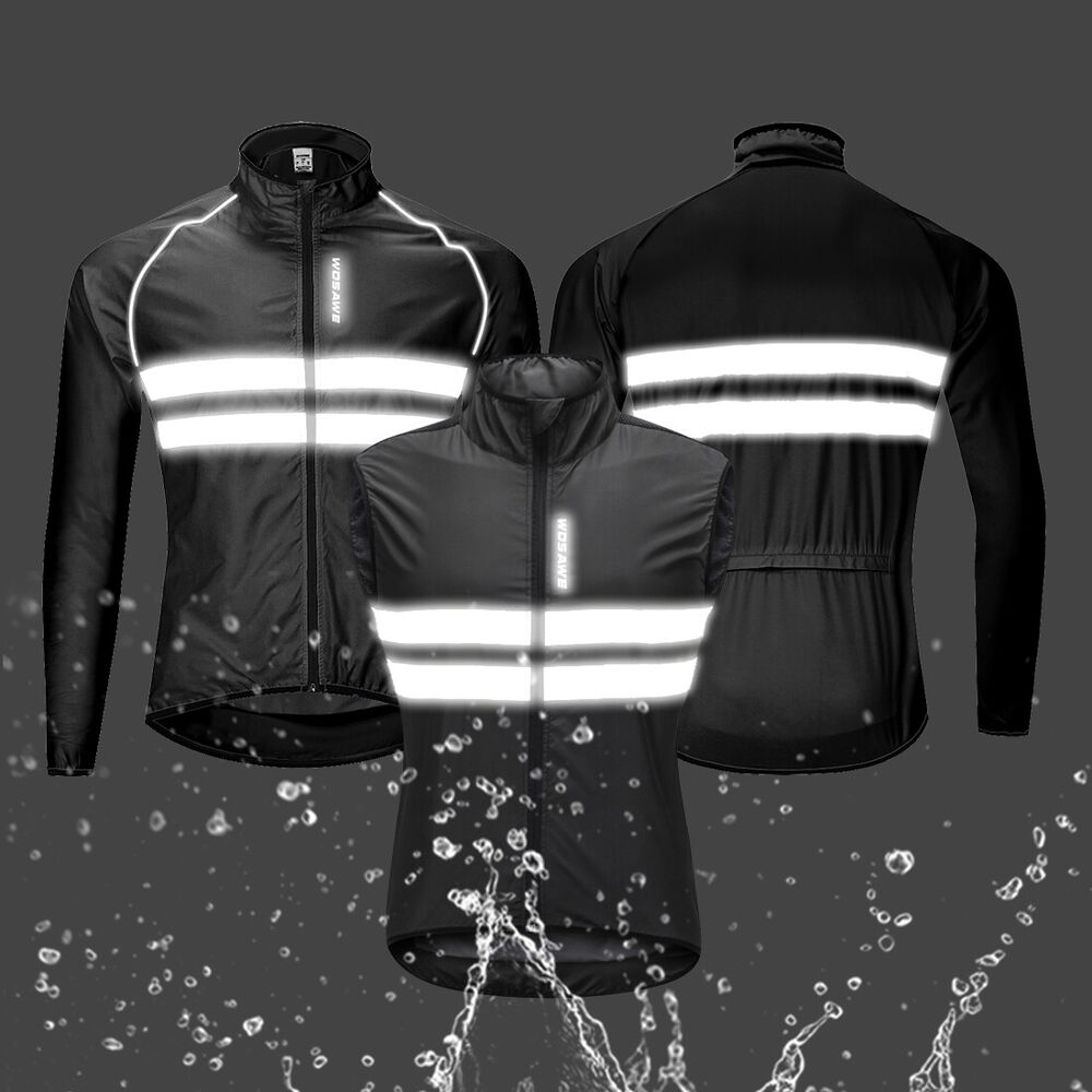 Details about High Visibility Cycling Jerseys Hi Viz Windproof Jacket Bike  Bicycle Reflective 5958adaf2