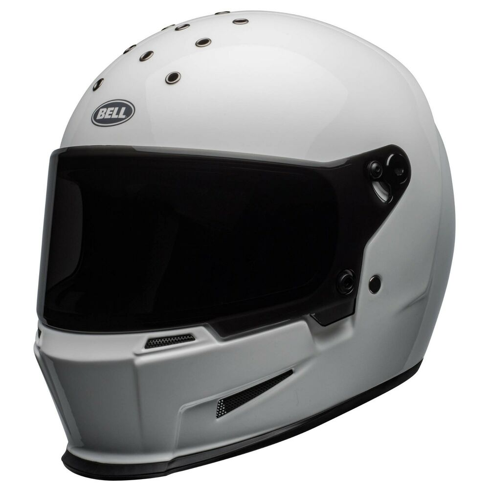34d6e777 Details about Bell Eliminator Motorcycle Helmet - GLOSS WHITE - ALL SIZES