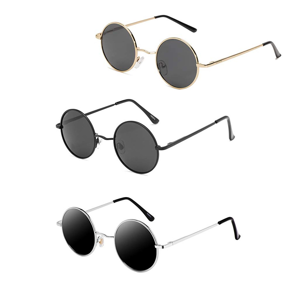 33dbf1f5e95 Details about John Lennon Style Vintage Retro Classic Circle Round  Sunglasses For Small Faces