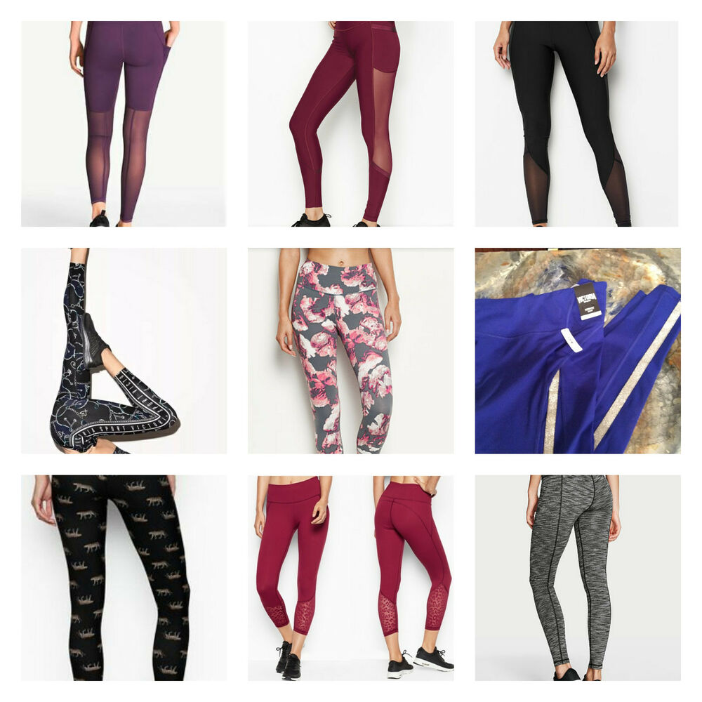 948c6dfd06a1 Details about VICTORIA'S SECRET SPORT TOTAL KNOCKOUT MESH TIGHT LEGGINGS  LEOPARD YOGA PANT
