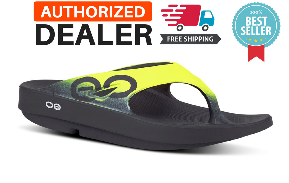 7df8272e765 Details about 🔥OOFOS OORIGINAL SPORT Yellow Flip Flop Sandal Recovery Thong  Footwear - NEW!