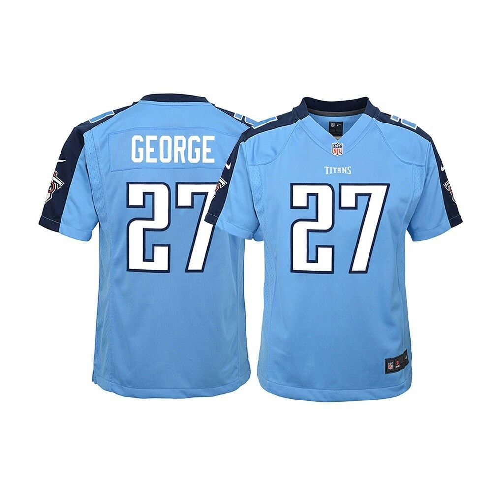 47d477a9 Eddie George Tennessee Titans NFL Youth Nike Light Blue Alt Game Jersey    eBay