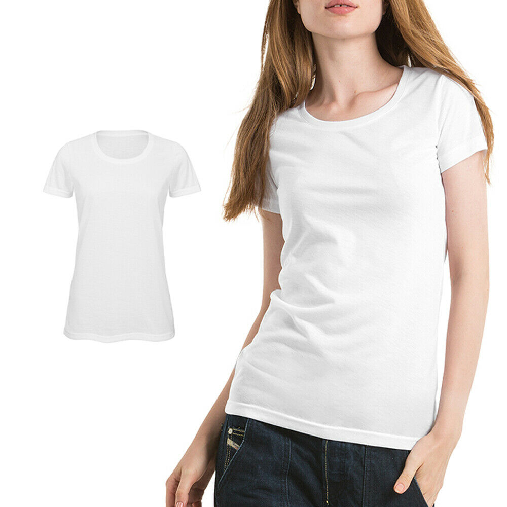 0594c247 Details about B&C Collection Women's Sublimation T-Shirt TW063 - Printing  Polyester Plain Tee