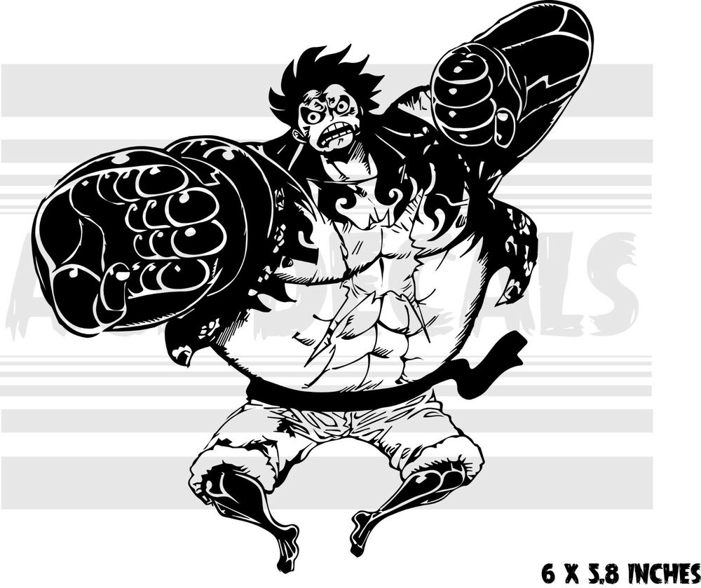 Details about one piece luffy bound man gear 4th anime vinyl decal sticker