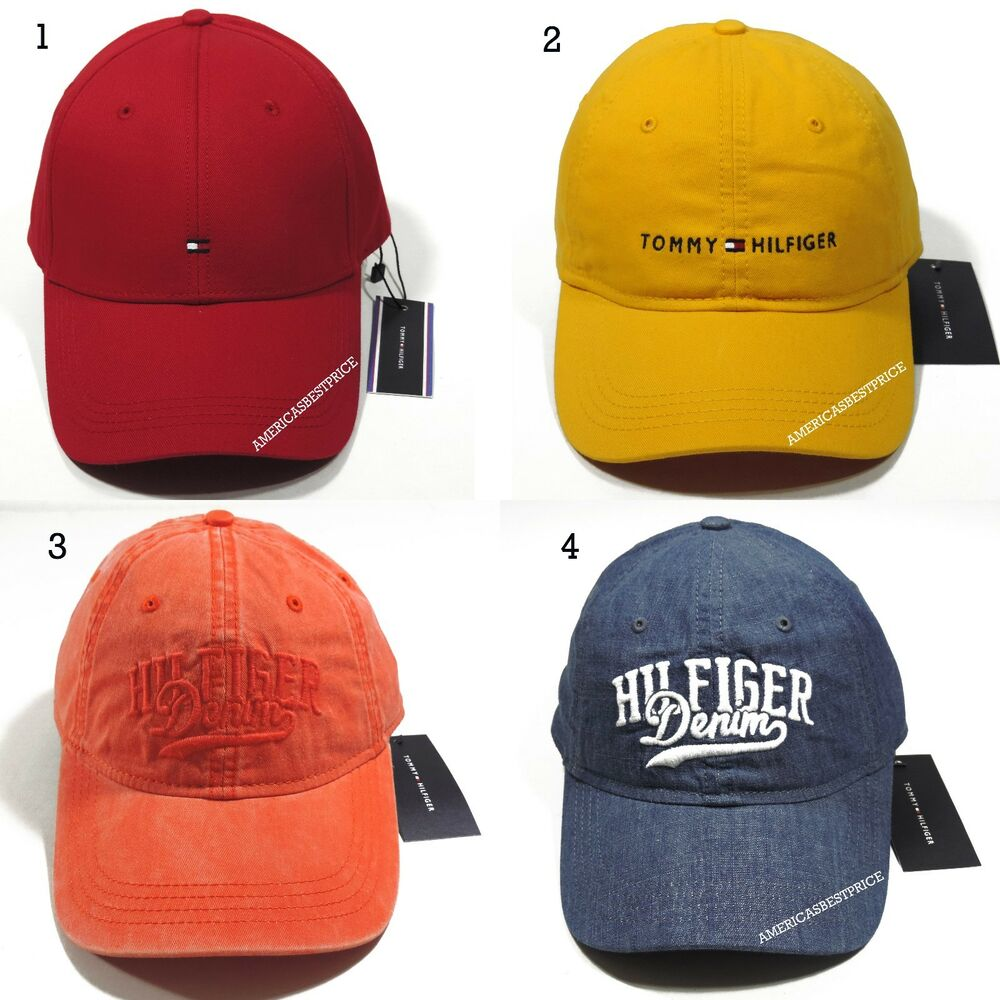 Details about TOMMY HILFIGER NEW MEN S BASEBALL CAP HAT RED WHITE YELLOW  BEIGE NICE CAPS 713dd061edc