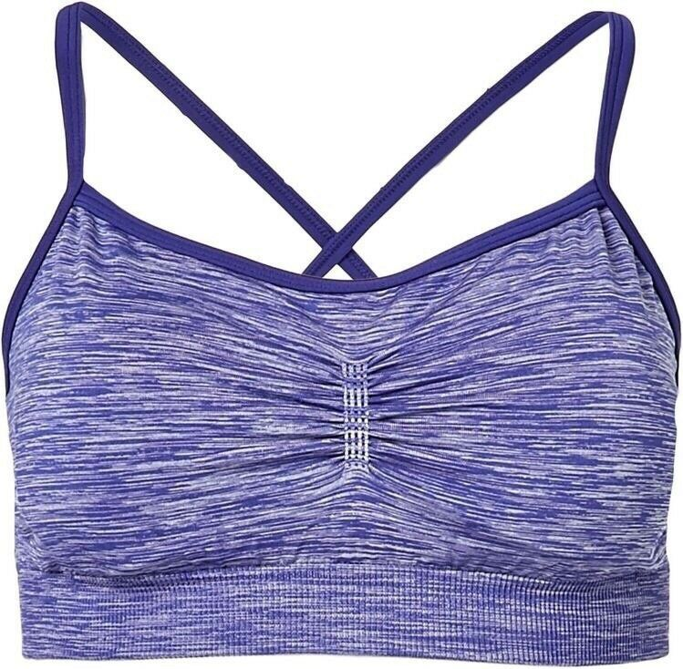 b4089bec484ac Details about CALIA Size XS Heathered Purple Low Impact Sports Bra Carrie  Underwood C10