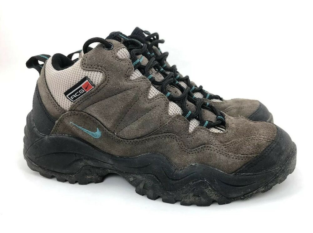 a6df9c0379b303 Details about Vintage Nike ACG Hiking Boots Grey Mid Top EUR 42 Womens US  Shoe Size 10