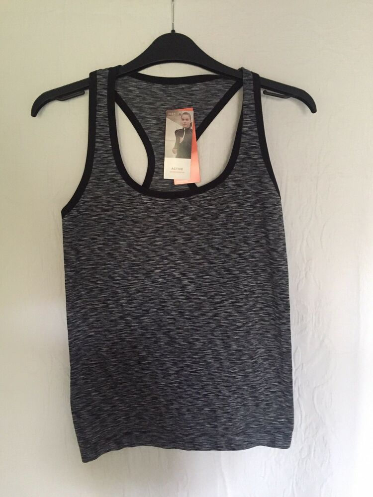 df0191fc9574ce M&S Marks And Spencer Sports Vest Top Grey Size Small S | eBay