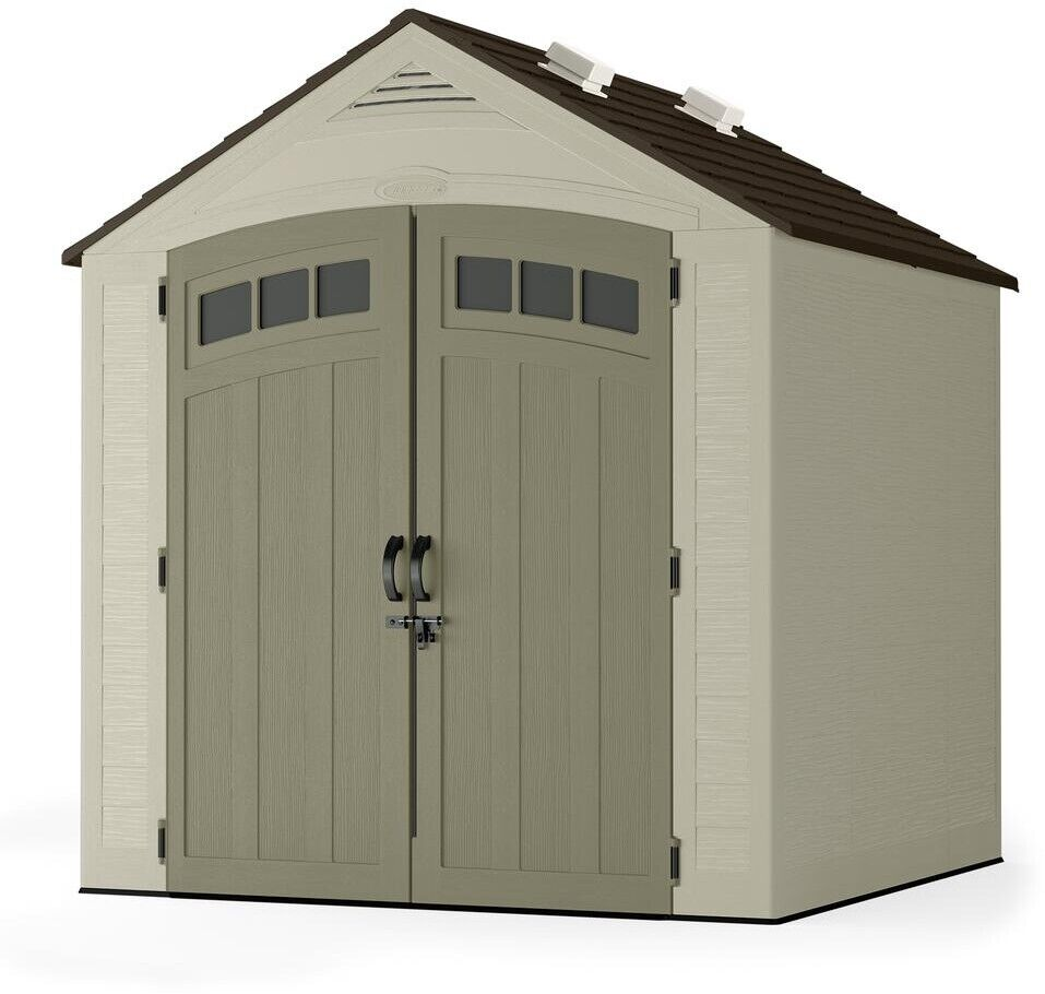 Suncast Storage Shed 7 Ft. X 7 Ft. Lockable All-Weather