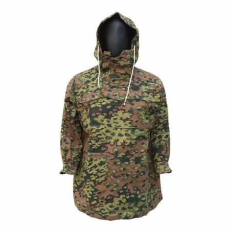 img-WWII GERMAN SPRING &AUTUMN OAK CAMO REVERSIBLE MOUNTAIN ANORAK SMOCK COAT L