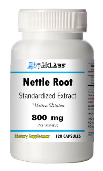 Stinging Nettle Root Extract 800mg Serving 120 Capsules Urtica Dioica Bottle NR