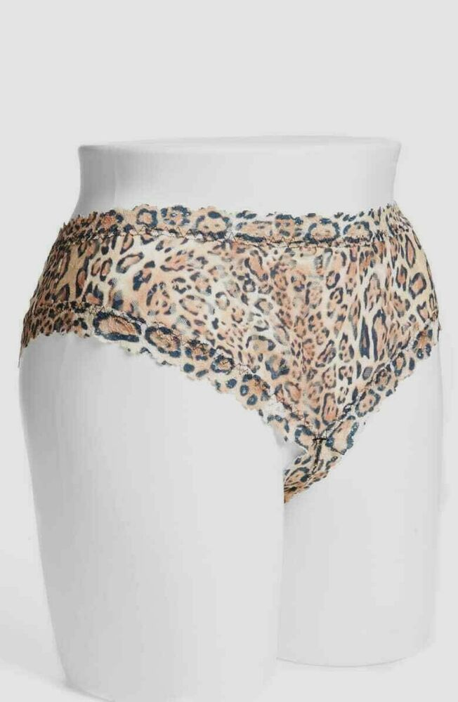 5e233a714 Details about NWT Hanky Panky Crossdyed Crotchless Cheeky Hipster Panty  Leopard Plus Size 2X