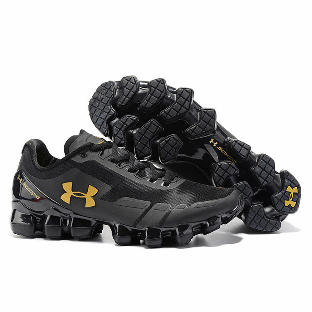 2584418aeae32 Details about men under armour mens ua scorpio running shoes leisure shoes  black gold jpg 1000x1000