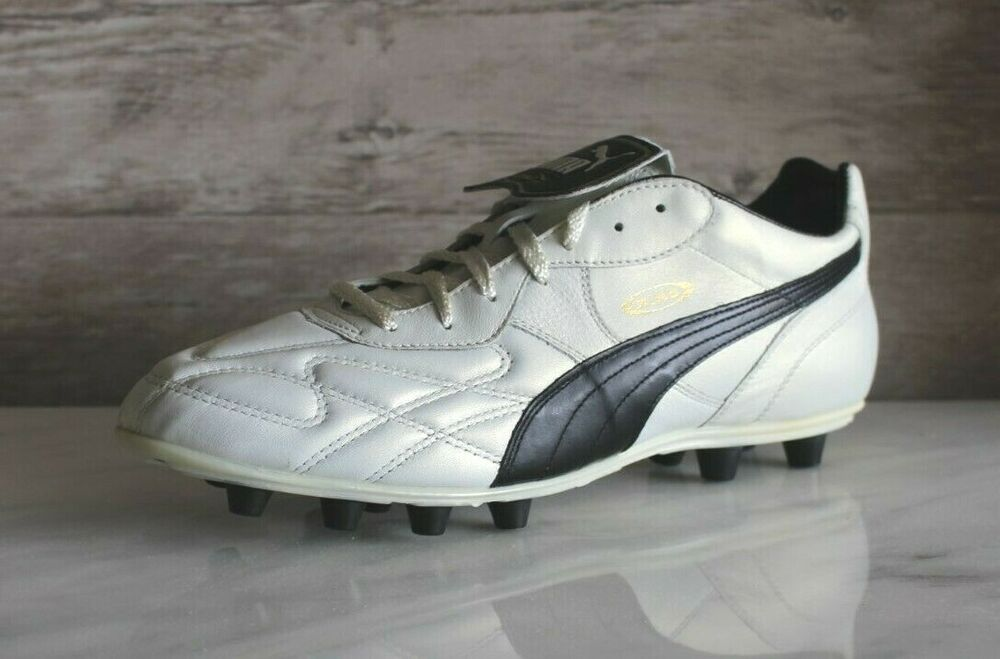 caa0c416b Details about Puma King Top DI FG White Black Soccer Cleats EU-47 Football  Boots Size US-13