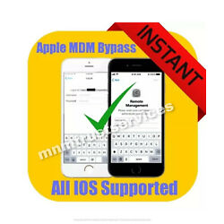 Kyпить APPLE MDM/ REMOTE MANAGEMENT BYPASS iPHONE/ iPOD/ iPAD IOS 14.2 SUPPORTED  на еВаy.соm