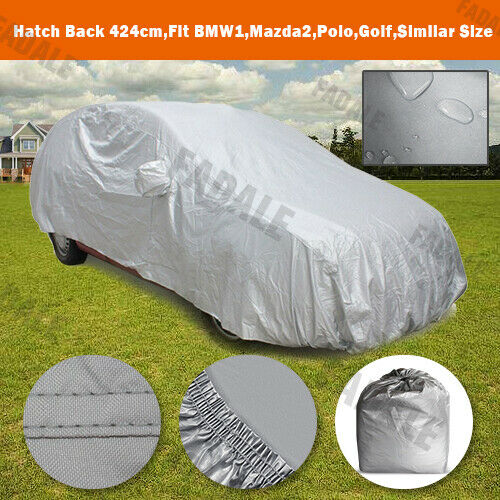 Waterproof Car Cover Universal Fit For Subcompact City Cars UV Protection BCH0S