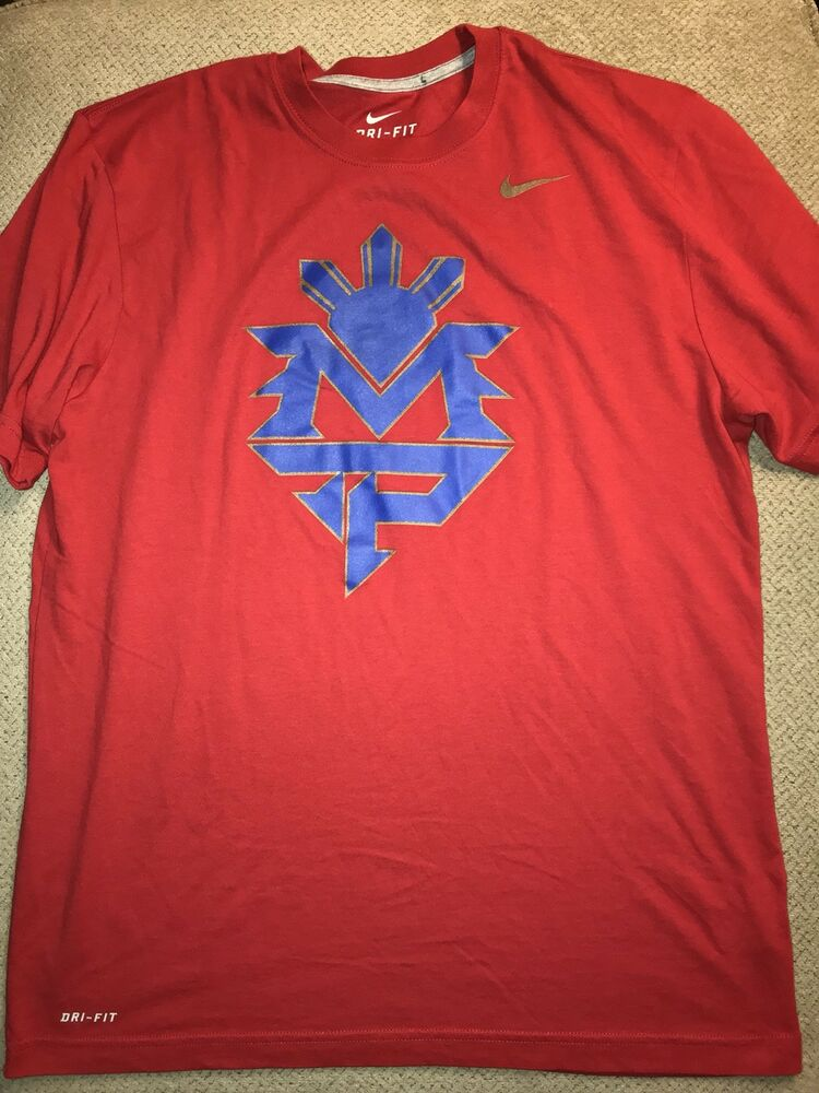 85e03d64 Details about Mens Nike Manny Pacquiao Boxing Shirt Large L