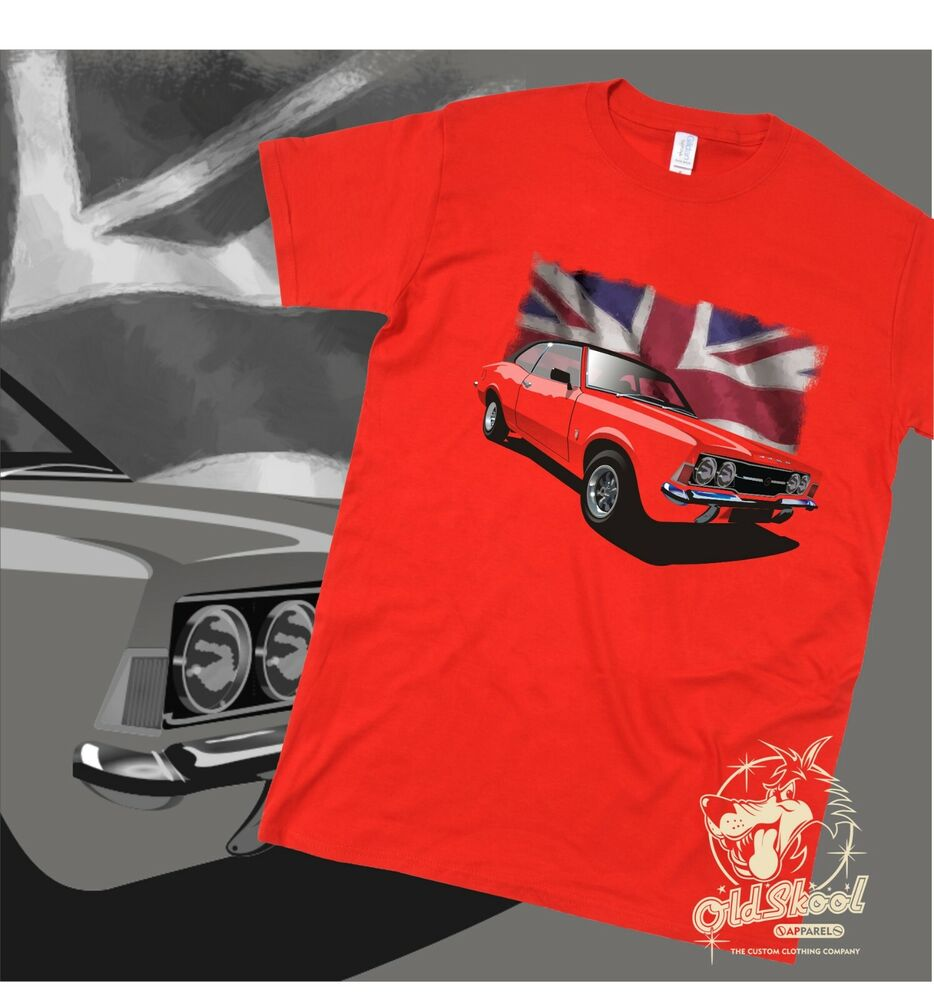 b1f172a0f Details about Ford Cortina T Shirt Retro Vintage Classic Car