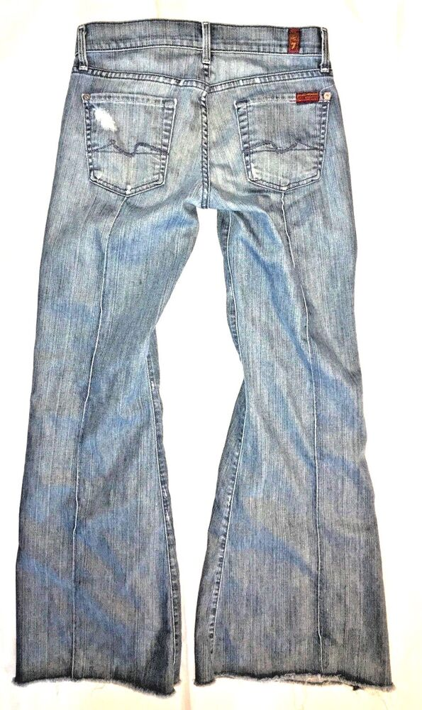97cd6634861 Details about 7 for all mankind Womens Jeans Boot Cut Super Flare Size 26 X  31