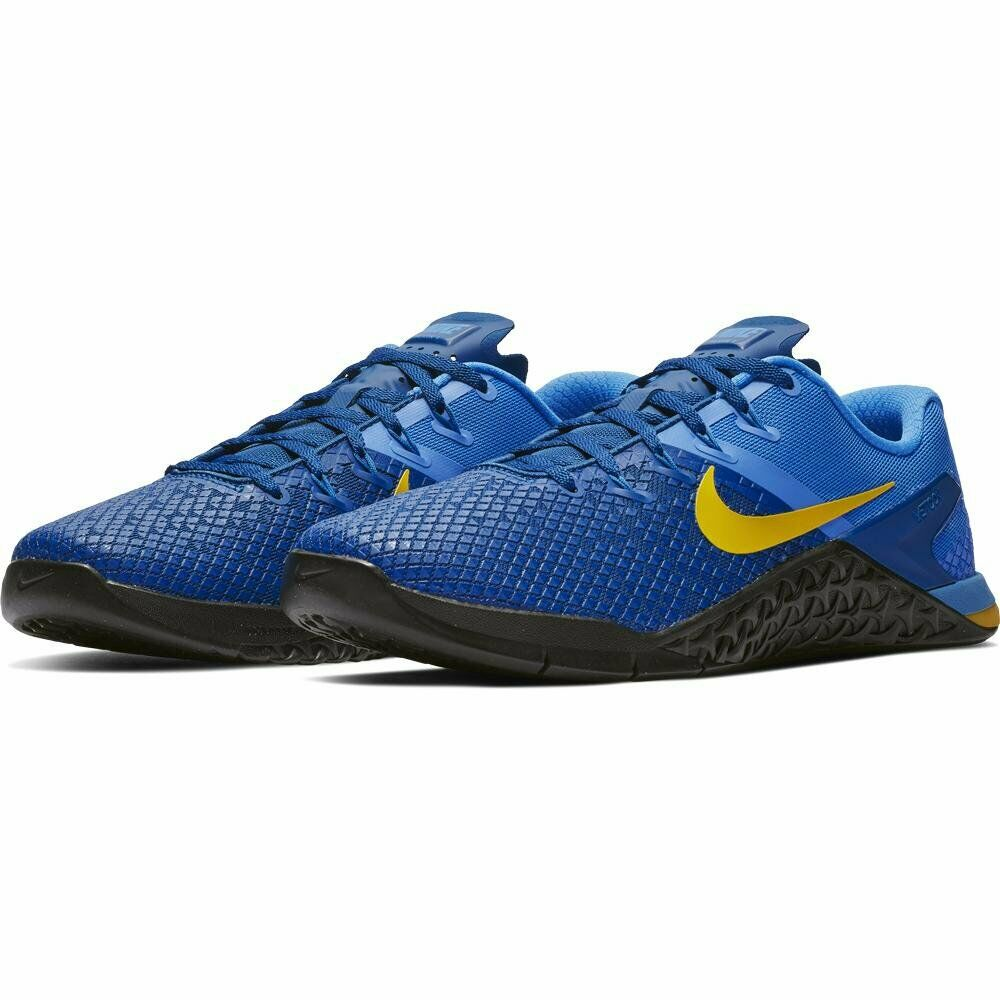 a789e48d8d7ea Details about Nike Metcon 4 XD Training Shoes Royal Blue Team Yellow Black  BV1636-474