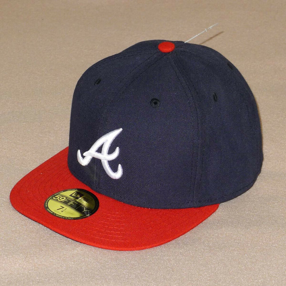 Details about New Era Atlanta Braves Navy AC On-Field Home Fitted 59FIFTY  Baseball Hat - NWT! 48d4e36a6e3