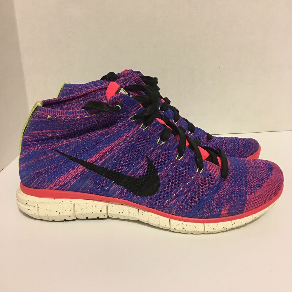 huge selection of 11ac9 589da Details about Nike Free Flyknit Chukka Game Royal Obsidian Hyper  Punch Ivory 640652-400 US 12