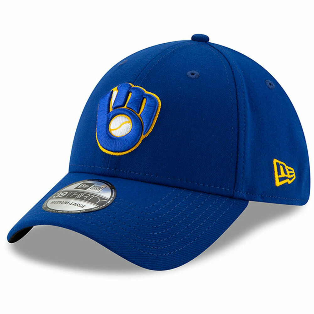 new concept 4085a 37bd5 Details about Milwaukee Brewers New Era 39THIRTY MLB Team Classic Stretch  Flex Cap Hat Glove