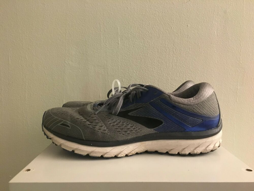 737228949bc07 Details about Brooks Mens Adrenaline Gts 18 Grey Blue Black Running Shoes  Size 12 2E (181085)