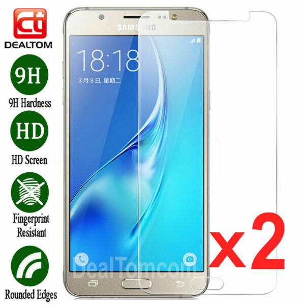 2PCS Premium Tempered Glass Screen Protector Film For Samsung Galaxy J5 2016