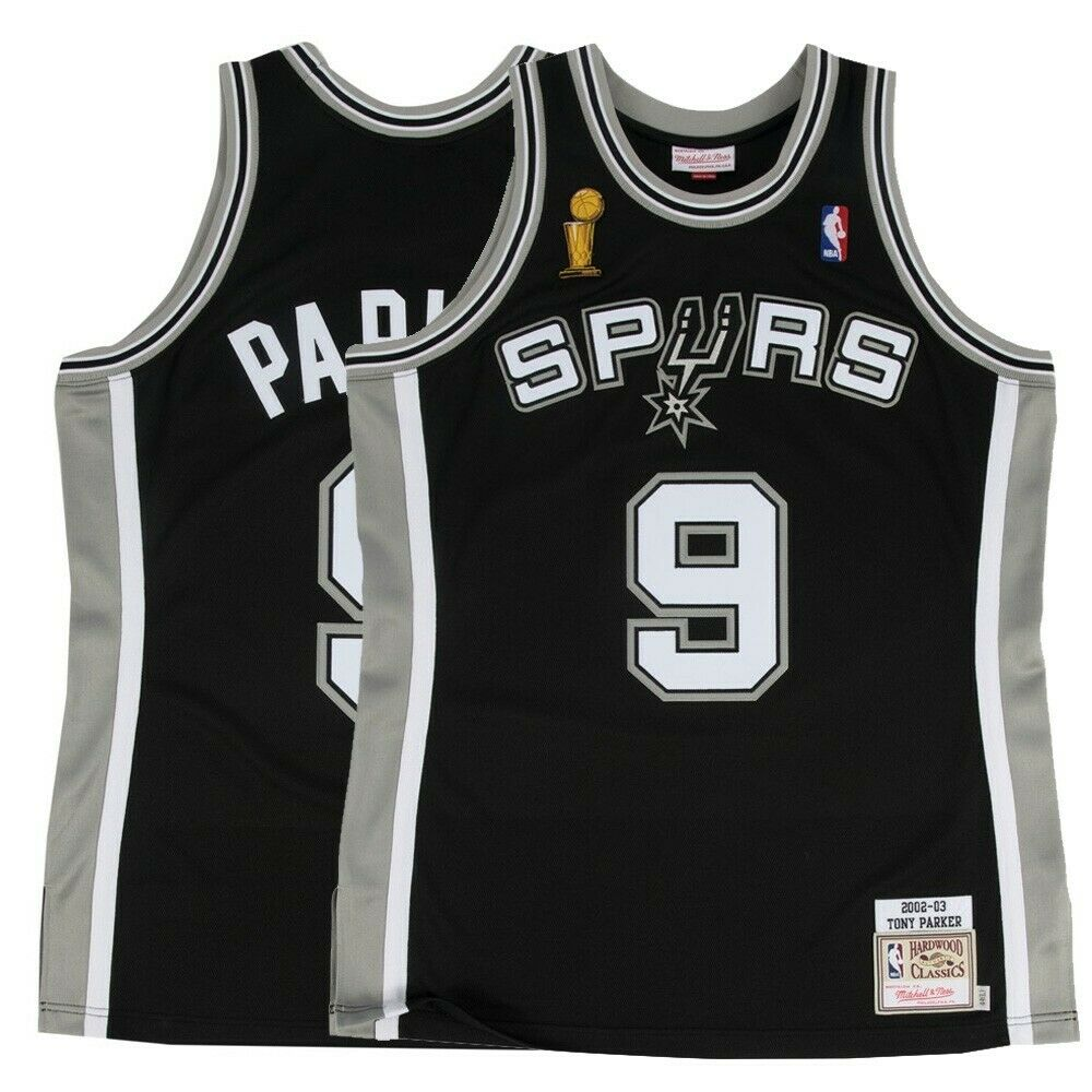a9f14c419fda Details about 2002-03 Tony Parker NBA San Antonio Spurs Mitchell   Ness  Authentic Away Jersey