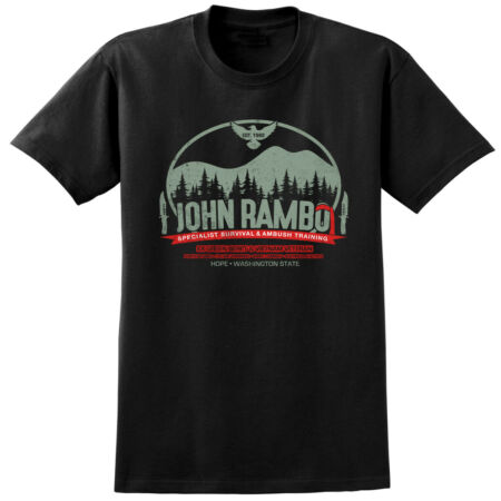 img-John RAMBO Inspired T-shirt - Retro 80s Film Classic Tee - Stallone Action Movie