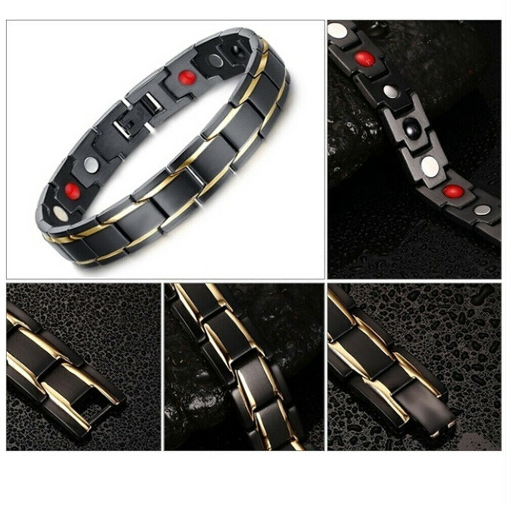 Bio Magnetic Negative Ion Health Energy Anti-fatigue Weight Therapy Bracelets Fashion Jewelry