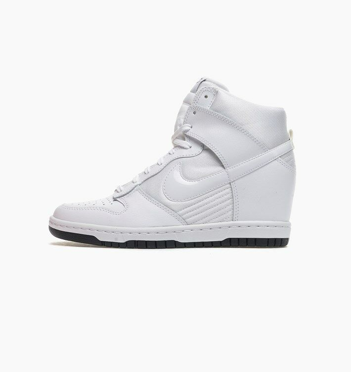 f552c8ed57c6 Details about Nike WOMEN S Dunk SKY HI HIGH HIDDEN WEDGE Essential  White Black SIZE 5 NEW