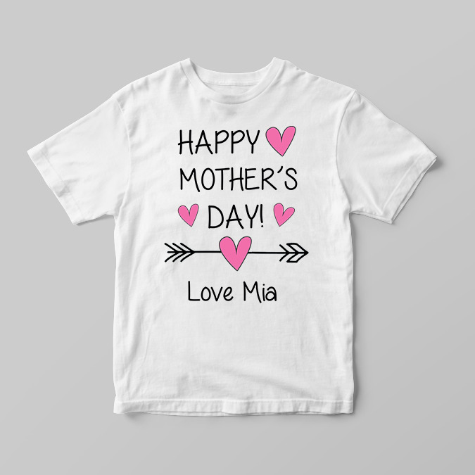 e4c173ff Details about Personalised Happy Mothers Day Girls Children's Kids T Shirts  T-Shirt Top