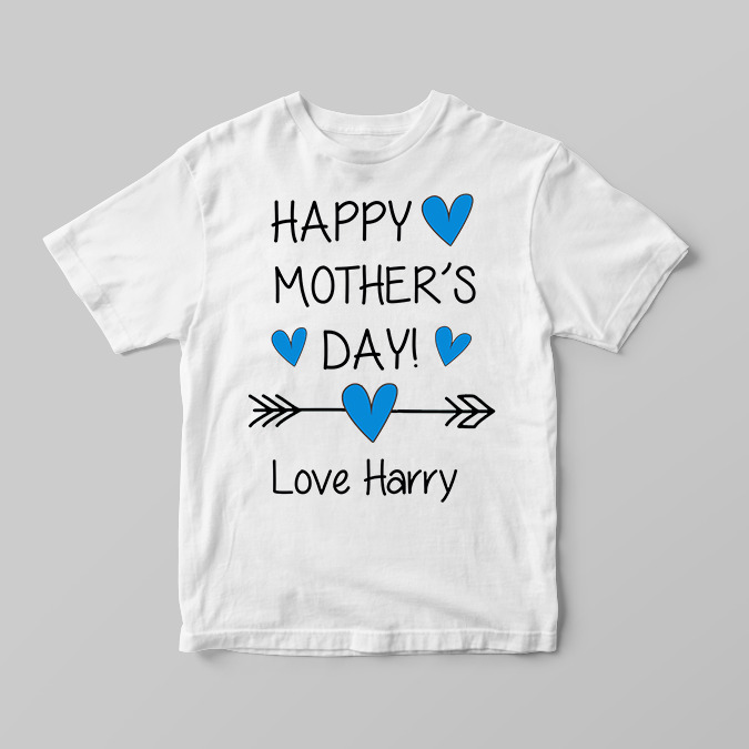 45cd3cea Details about Personalised Happy Mothers Day Boys Children's Kids T Shirts T -Shirt Top