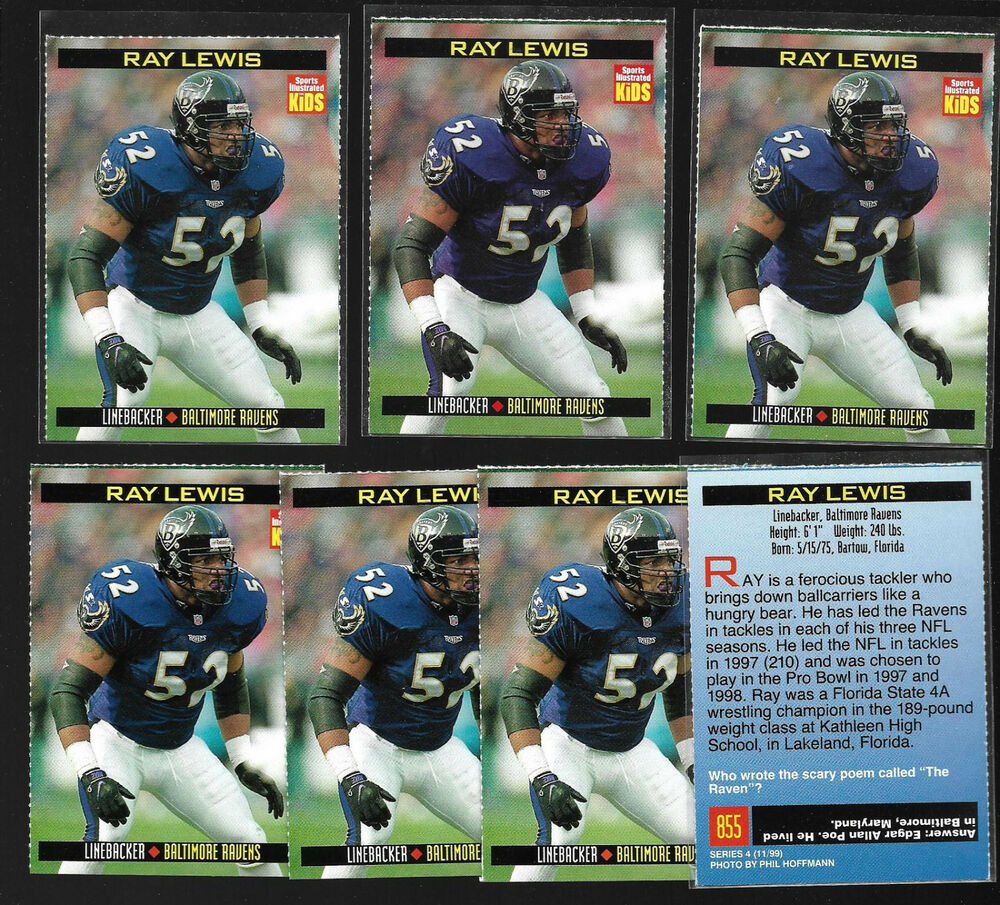 f114254fdc62 Details about Collection Lot(7) SI for Kids-RAY LEWIS Cards