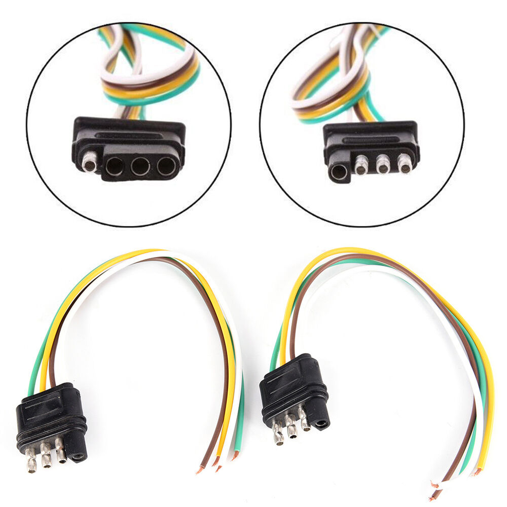 2Trailer Light Wiring Harness Extension 4-Pin Plug 18 AWG Flat Wire on 4 pin spark plugs, 4 pin power supply, 4 pin ignition module, 4 pin light bulbs,