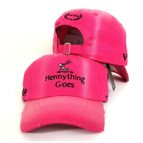 127cd858fce2b  27.99 · Distressed Hot Pink Bleach Fade Hennything Goes Field Grade Dad  Strapback Hat