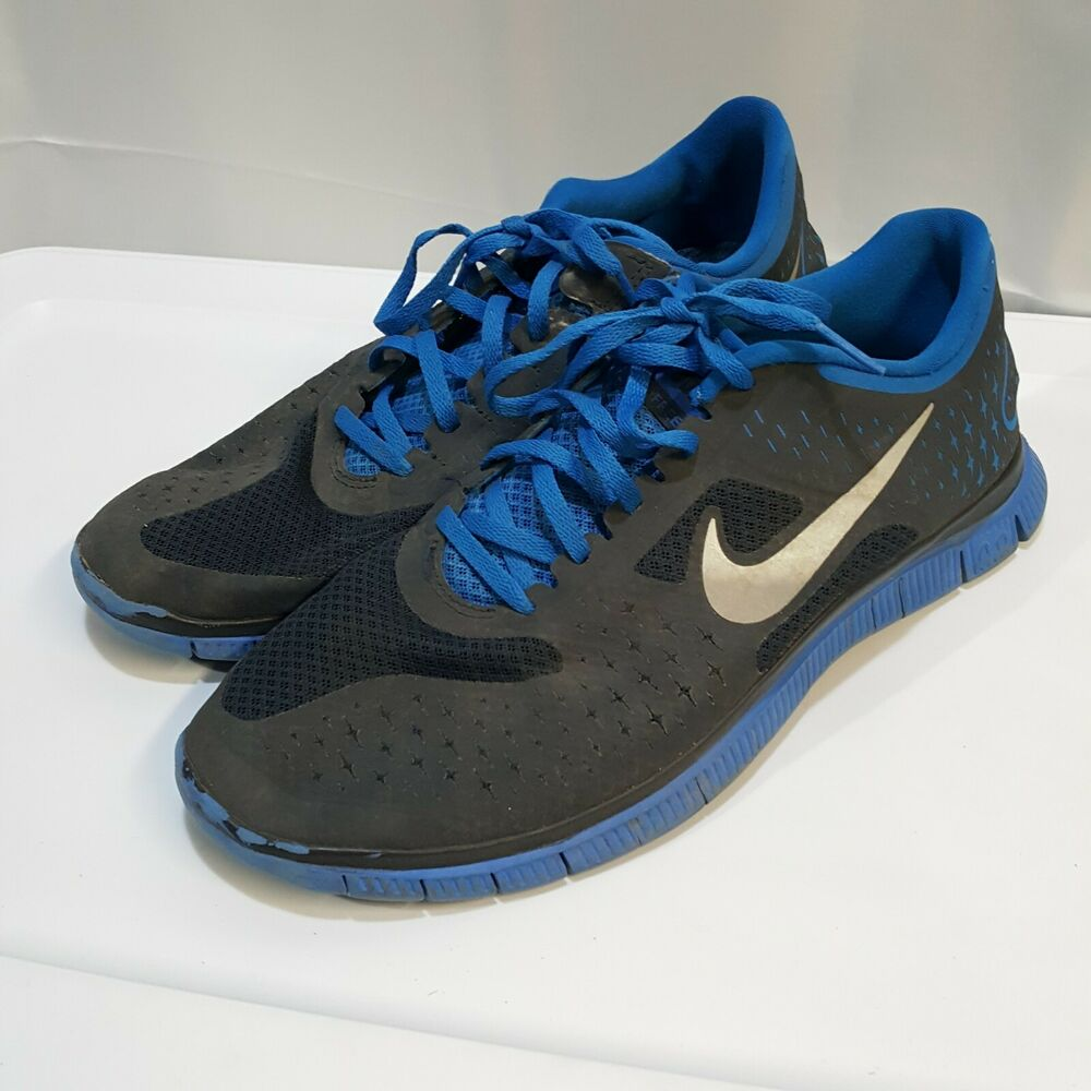 separation shoes f25c5 ae1be Nike Free 4.0 V2 Blue Running Shoes Training Sneakers Men's Size 9.5  511472-630 | eBay