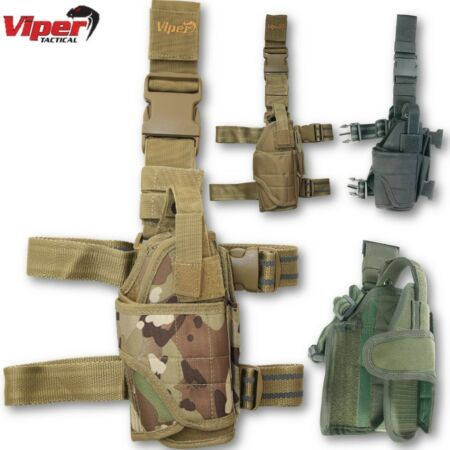 img-VIPER TACTICAL ADJUSTABLE HOLSTER MAG POUCH MODULAR PISTOL HOLDER AIRSOFT ARMY